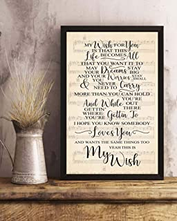 Home wall art print oh i wanna dance with somebody lyric print