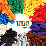 WYSWYG Building Bricks 1000 Piece Blocks Set for 4 Year Old up Kids Compatible with LEGO All Major Brands 10 Classic Colors,14 Bulk Shapes Baby Toy Party Favor