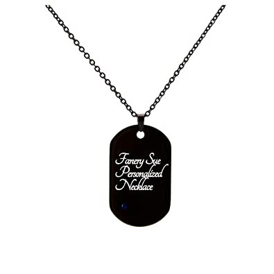 d7e5a59c6bc9 Amazon.com: Fanery Sue Personalized US Military Dog Tag Necklace W ...
