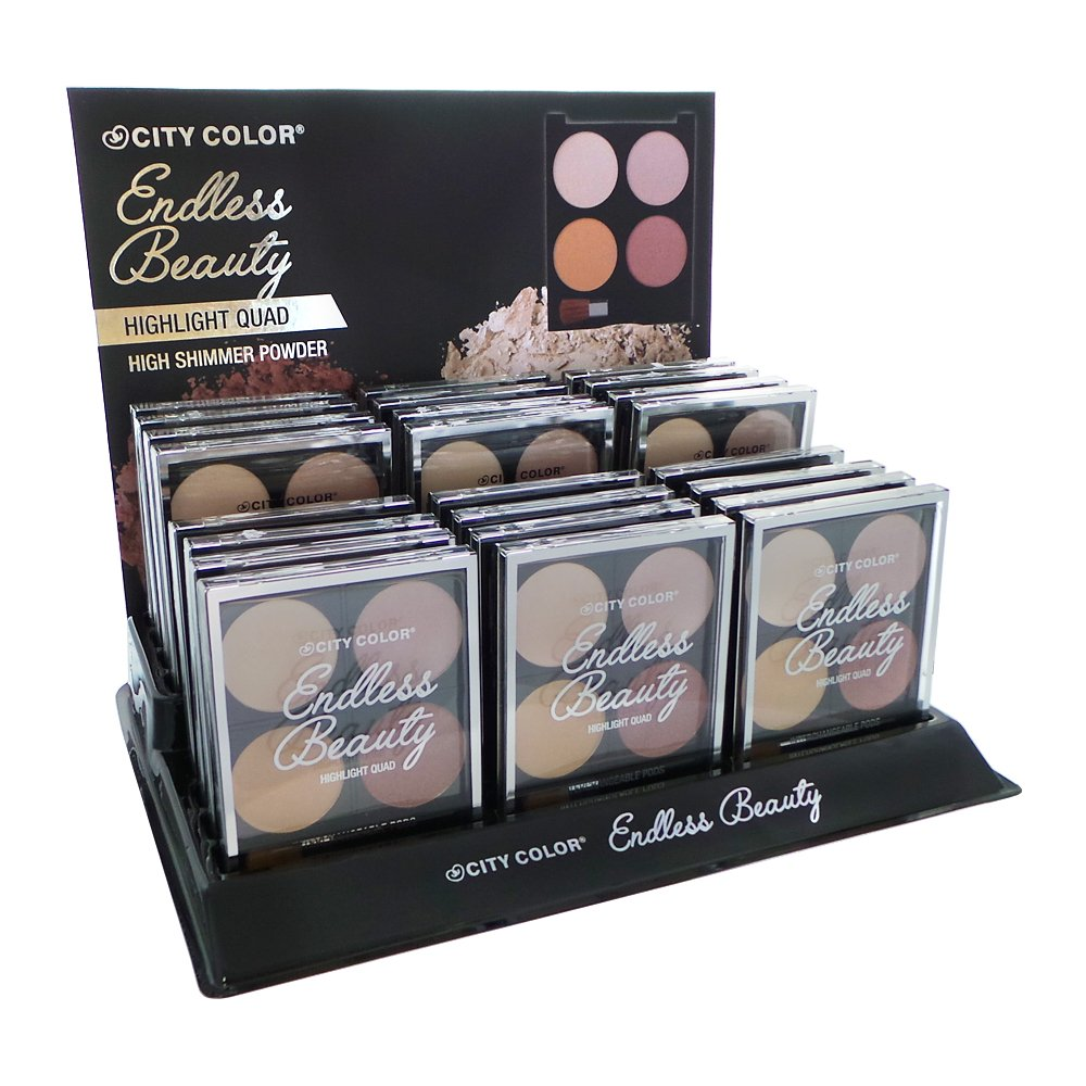 CITY COLOR Endless Beauty Highlight Quads Display Set, 24 Pieces (並行輸入品) B077VPFS15