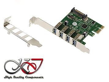 KALEA-INFORMATIQUE Tarjeta controladora PCIe USB 3.0 SuperSpeed 5G – 4 Puertos USB3 Tipo A – CHIPSET Via VLI VL805 - Perfil bajo + Perfil Completo ...