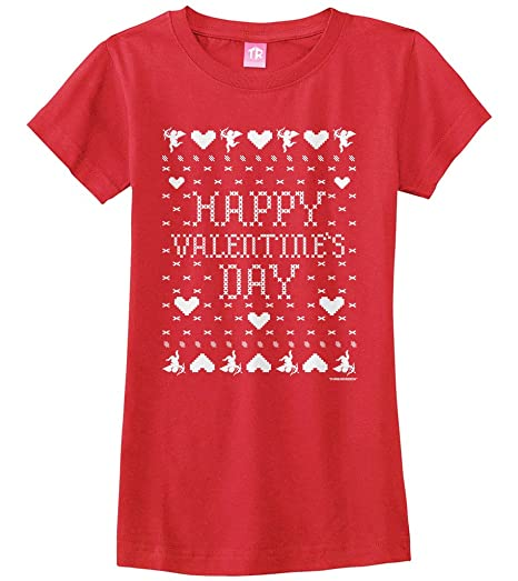 Amazon Com Threadrock Big Girls Happy Valentine S Day Ugly Sweater