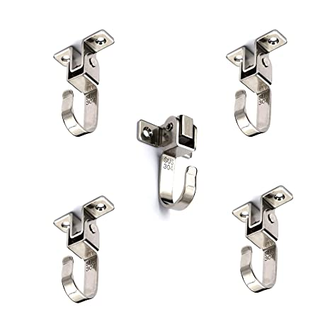 Amazon.com: Anmeilexst - 5 ganchos de acero inoxidable para ...