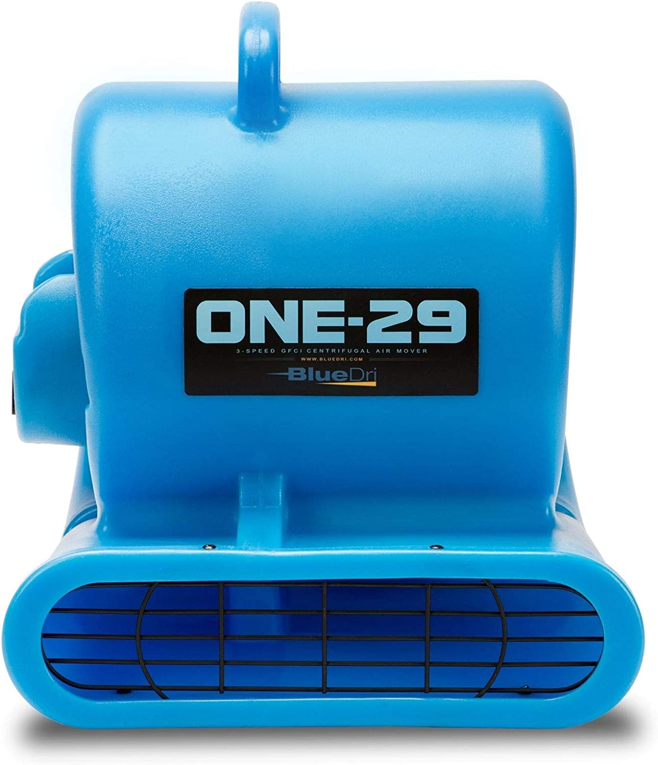 BlueDri One-29 1 3 HP High Velocity Heavy Duty Portable Air Mover Floor Carpet Dryer Blower Fan for Water Damage Equipment Restoration, Blue