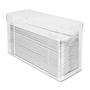 Kantek Paper Towel Dispenser, Clear Acrylic (AH190)
