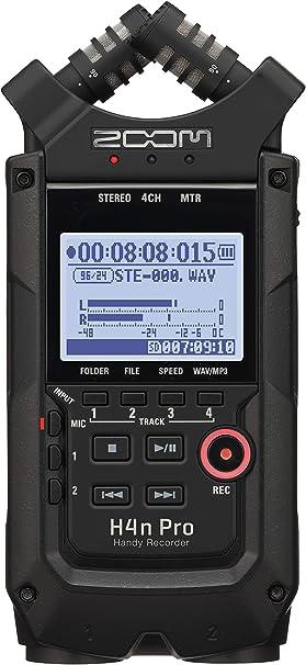 Amazon Com Zoom H4n Pro 4 Track Portable Recorder All Black
