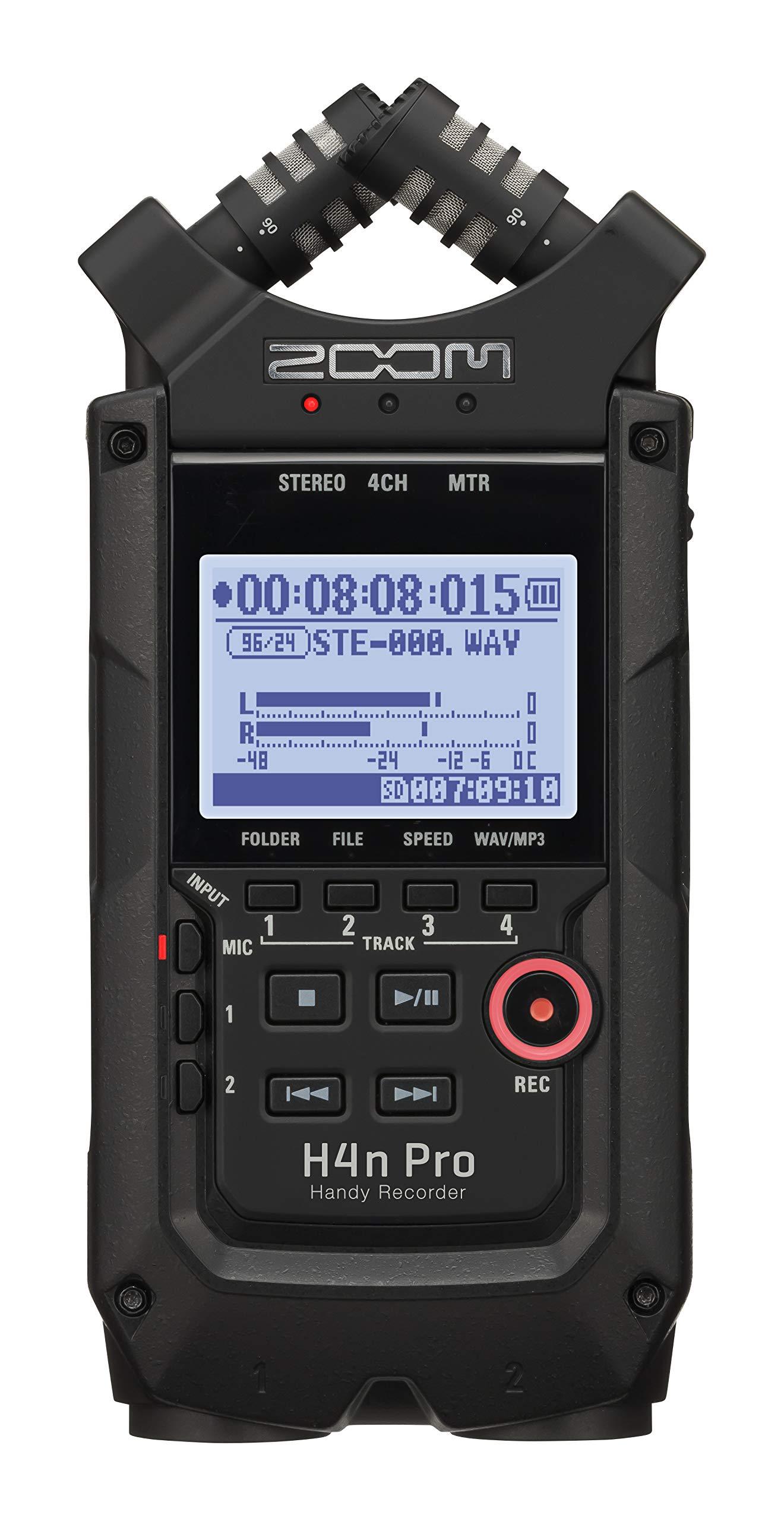 Zoom Digital Multitrack Recorder (H4n Pro All Black) by Zoom
