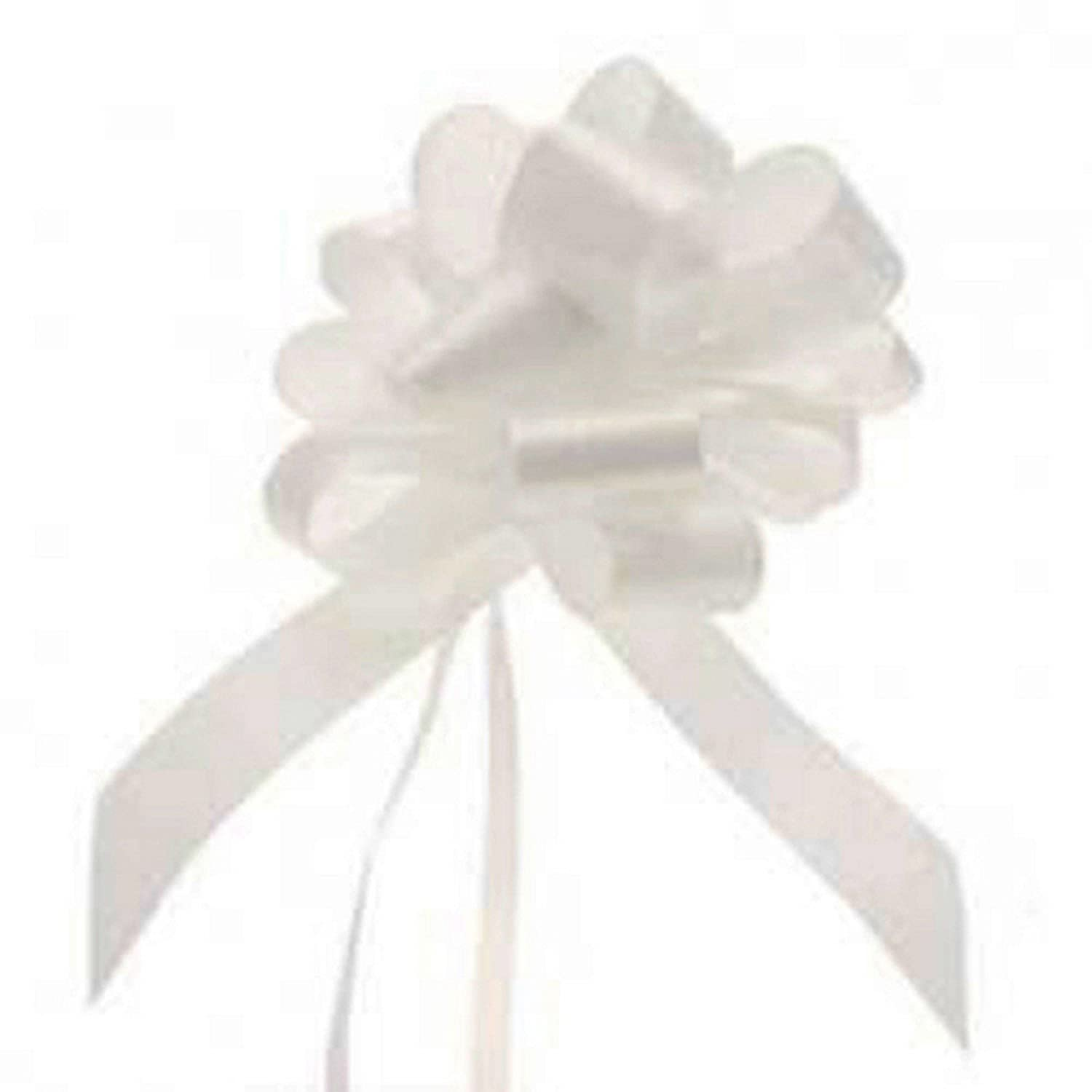 30 Snow White Satin Ribbon Floristry Pull Bows 30mm Smithers Oasis 60100