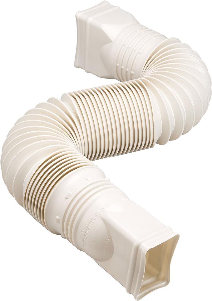 3 Pack White Flex-Drain 85010 Downspout Extension