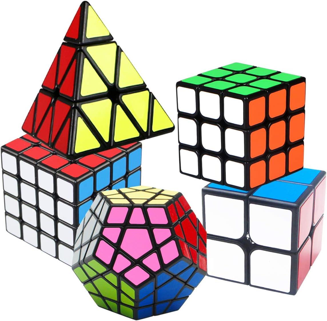 Zauberwürfel Speedcube Set, Puzzle Cube Set 2x2 3x3 4x4 5 Stück (5 Stück)