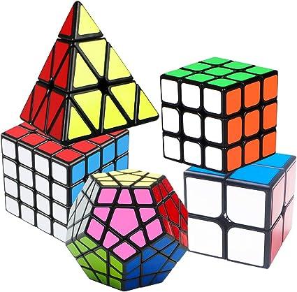 Smooth Sticker Magic Cube Set Speed Cube Set 2 Pack Rubix cube set,2x2 3x3