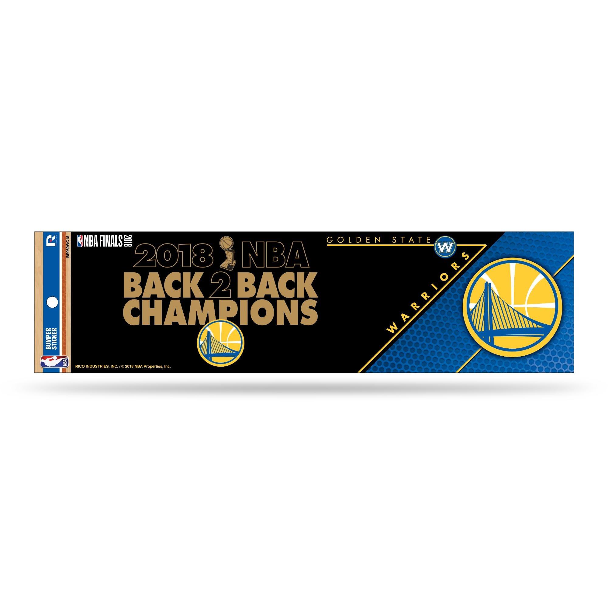 Rico Golden State Warriors Official NBA 12'' x 3'' 2018 National Champions Bumper Sticker Strip Decal 387233