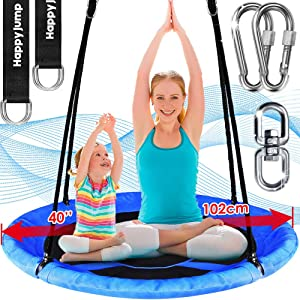 Tree Swing Set with 360° Swivel Safety Rotator Anti-Fade 40