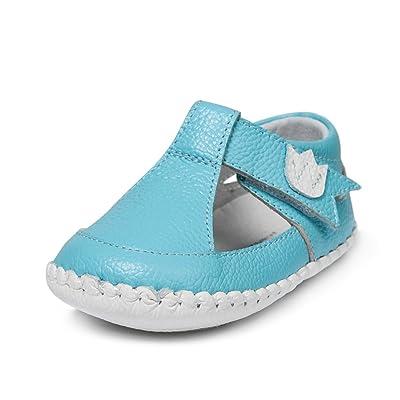 Little Blue Lamb , {Chaussures premiers pas pour bébé (garçon) Bleu turquoise 6-12 mois