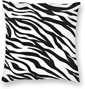 SHINENGST Zebra Pattern Print Throw Pillow Covers Black and White Decoration Pillow Cases 18