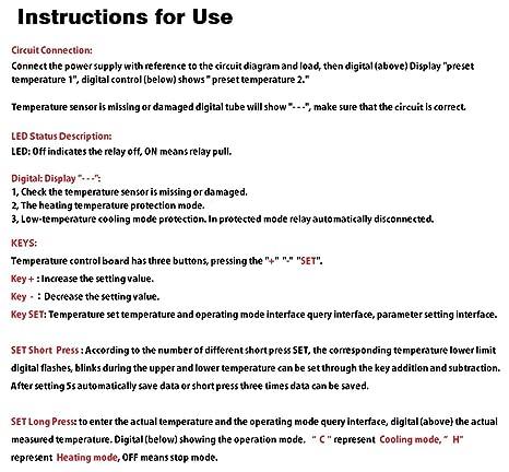 Lm Yn Digital Thermostat Module Dc 12v 10 To 210 Electronic