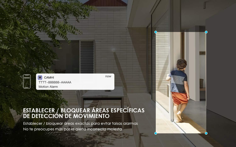 ieGeek Cámara de Vigilancia WiFi Exterior/Interior 1080P Actualización 5dBi Antena Wi-Fi más Fuerte, Cámara de Seguridad con Visión Nocturna de 30 m, ...