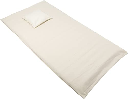 Futon Set with Buckwheat Filling Natural Cotton Covers