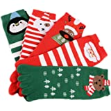 Stillshine Cinco Dedos Calcetines de Navidad, Childrens Baby Boy o niña y Adultos Cosy Cotton