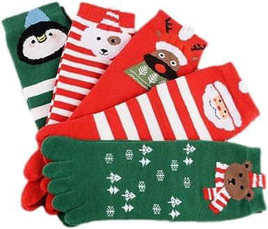 Stillshine Cinco Dedos Calcetines de Navidad, Childrens Baby Boy o niña y Adultos Cosy Cotton Socks Value Pack para niño pequeño (Adultos): Amazon.es: Ropa y accesorios
