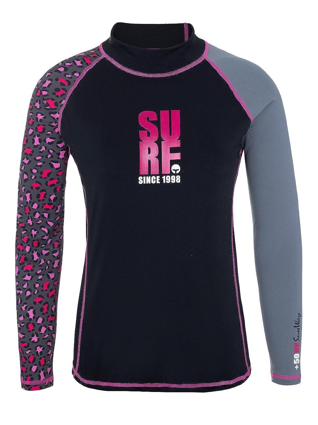 Sunway Surfing Women's Rash Guard Swim Shirt UV Sun Predectionn UPF 50+