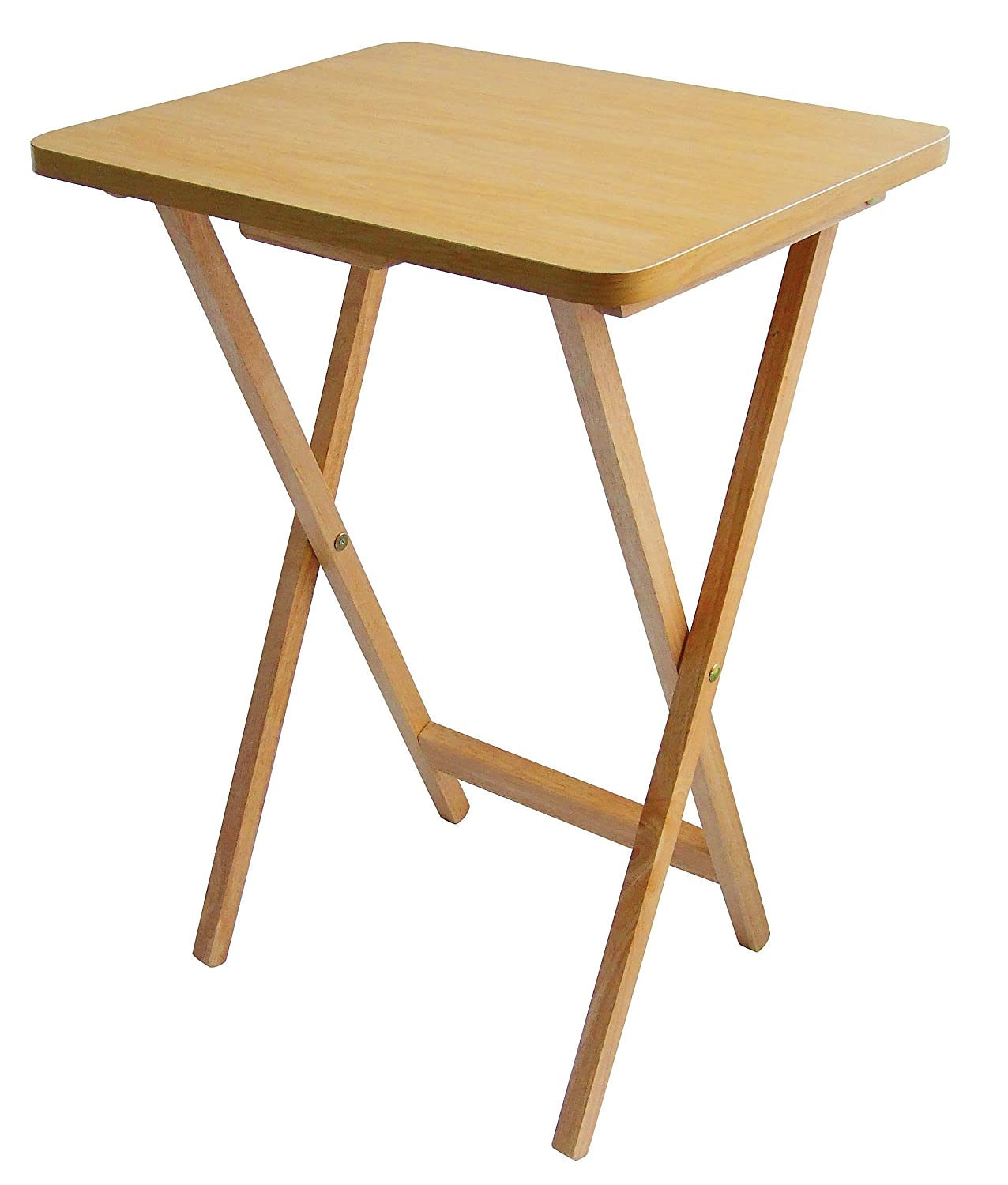 Premier Housewares Folding Snack Table   Natural Wood: Amazon.co.uk:  Kitchen U0026 Home