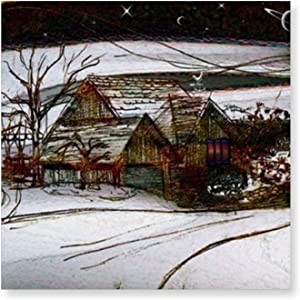 Halloween Country Winter Homefront Posters and Prints Wall Pictures Living Room Home Decoration Creative Decorative Painting Wall Art Decor (16x16in) unframed