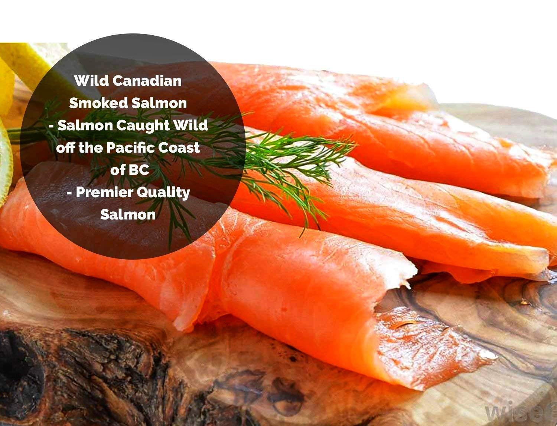 Smoked Salmon Sockeye Lox Cold Smoked Wild Caught Pacific Canadian Fish Sliced 32 oz