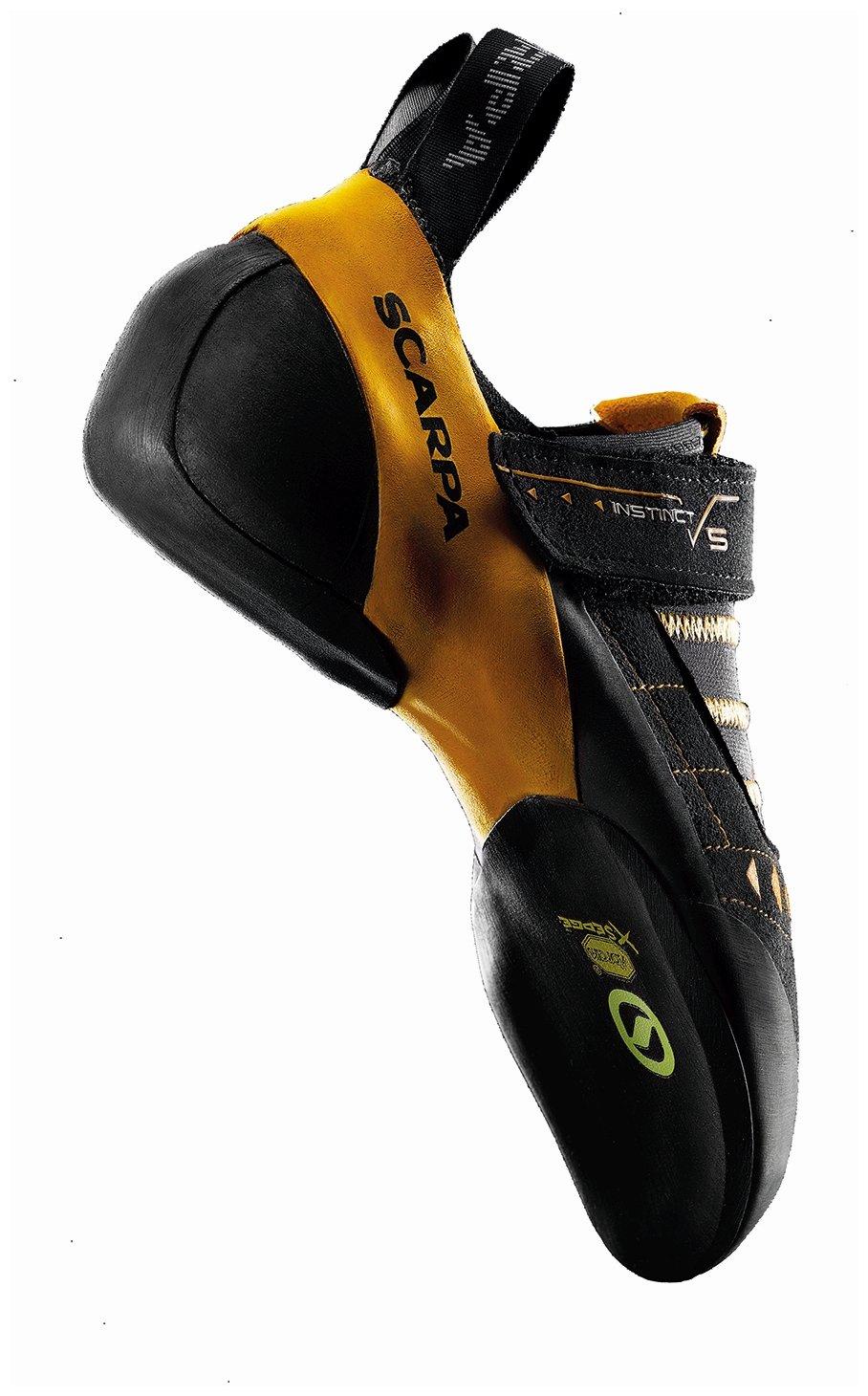 SCARPA Instinct VS Climbing Shoe-U, Black/Orange, 46 EU/12 M US by SCARPA