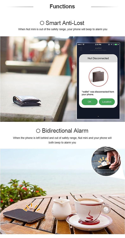 Docooler Nut Mini Smart Tracker Wireless BT Tag Tracker Anti-p/érdida de Alarma Localizador de GPS para Child Key Wallet para Android iPhone iPad iPod