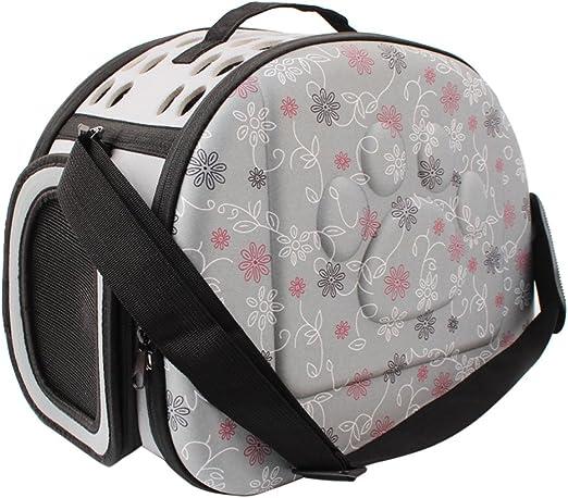 Transportín para mascotas de PUAO, goma EVA, portátil, plegable y cómodo, apto para viajar en avión, para gatos, perros y otras mascotas: Amazon.es: Productos para mascotas