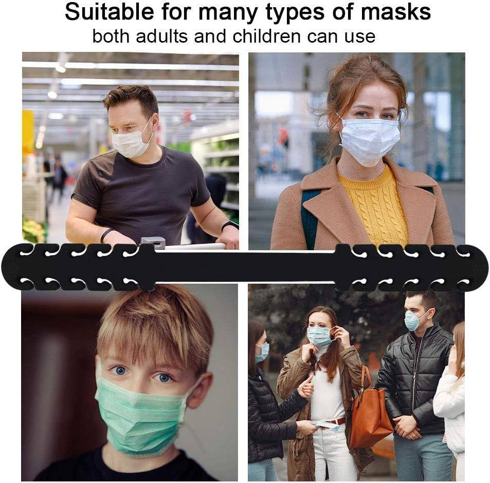 Masks Extension Hook for Extending Masks Buckle Band 03 Black 10pcs Face Mask Extender Strap Ear Savers for Masks
