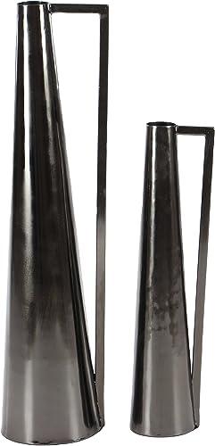 Deco 79 57430 Metal Vase, Black