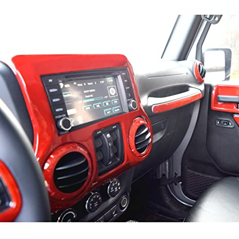 Lovely DIYTUNINGS Red Center Console Cover Trim Accents For Jeep Wrangler JK JKU  Unlimited Rubicon Sahara X