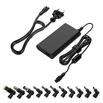 90W Cargador de portátil universal silm Adaptador de CA Cable de alimentación de múltiples puntas Compatible