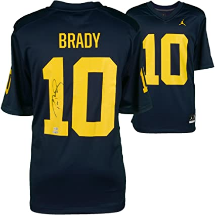tom brady michigan jersey authentic