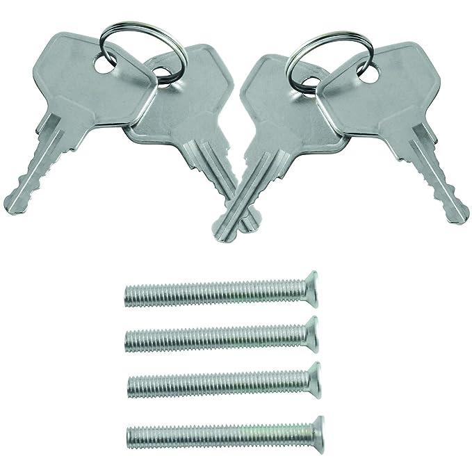 Grafner® 4x Fenstergriff abschließbar weiß Schlüssel Fenster Griff Kindersicher