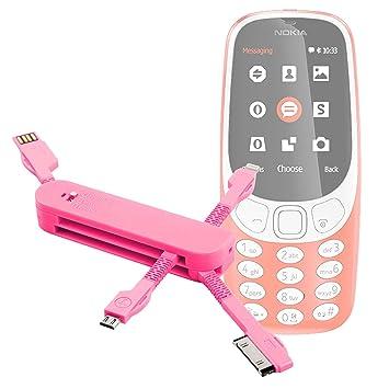 DURAGADGET Multi-Cargador Rosa para Móvil Nokia 3310 (2017 ...