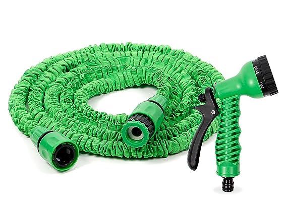 Gartenschlauch Flexibler Wasserschlauch Dehnbar Expander Schlauch Brause Grün