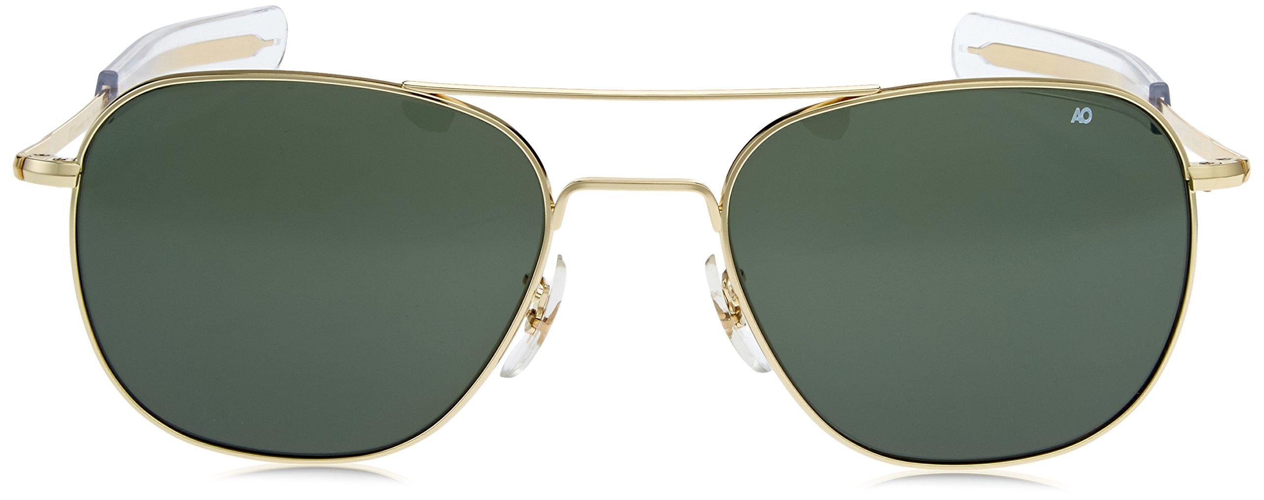 5f9163849428 AO Eyewear American Optical - Original Pilot Aviator Sunglasses with  Bayonet Temple and Gold Frame, Calobar Green Glass Lens - 32198OP57GBATCG <  Sports ...