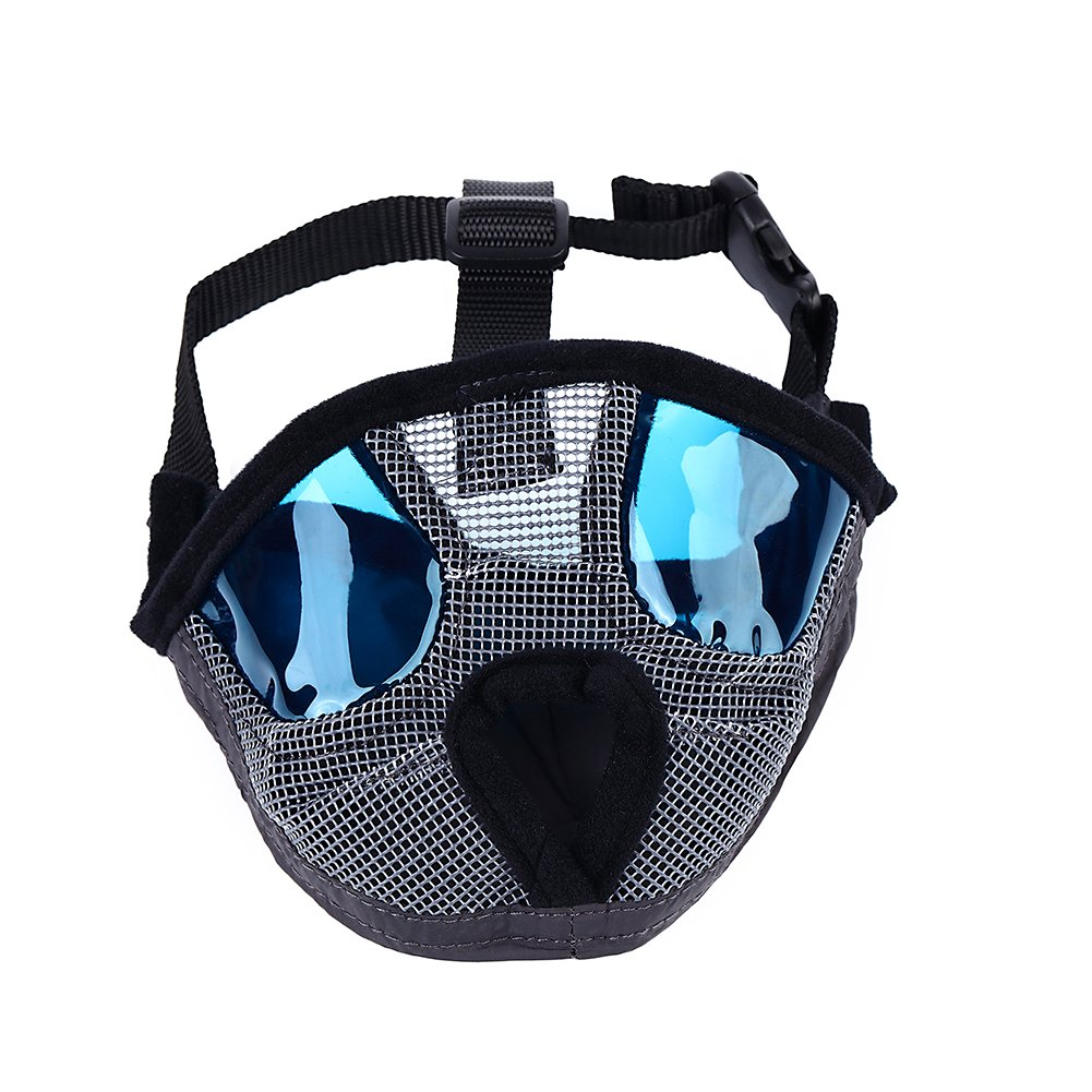 Petneces Dog Muzzles, Soft Mesh Muzzles Mouth Mask for Dog, Best to Anti Barking and Biting, Allows Nose Breath Easily(L, Grey)