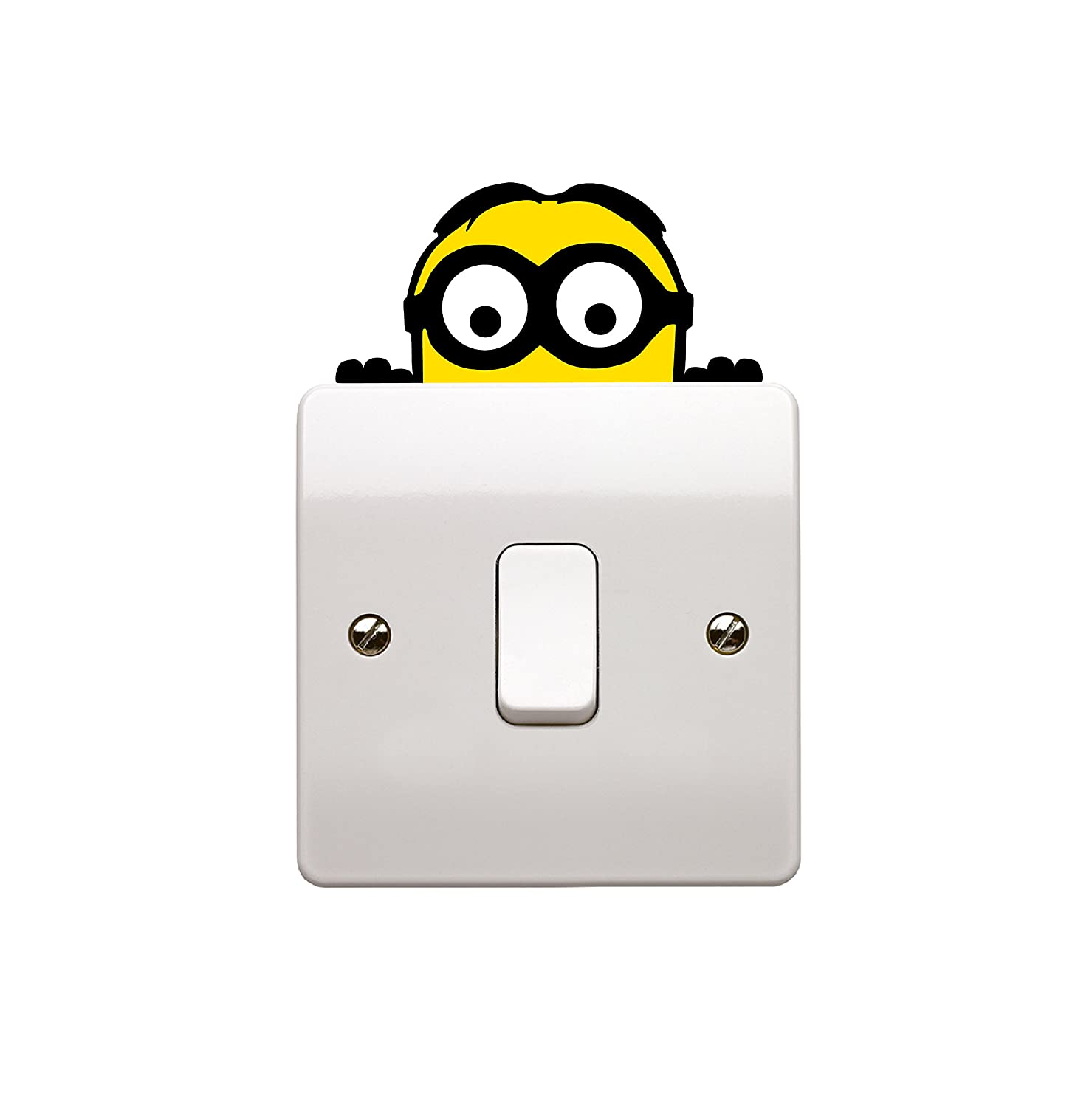 Epic Modz Minion Despicible Me Light Switch Vinyl Decal Sticker Child Room Lightswitch Wall Art - DESIGNED AND CREATED BY