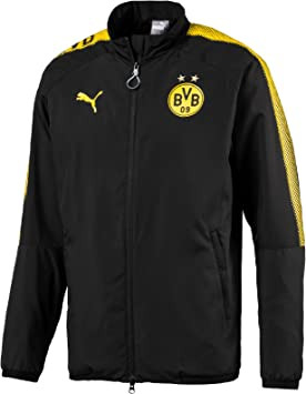 PUMA BVB Leisure Jkt Without Sponsor Logo with 2 Side Pockets wit ...