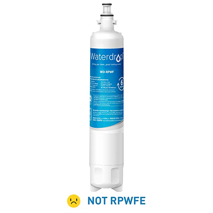 Waterdrop Refrigerator Water Filter, Compatible with GE RPWF(Not RPWFE), Standard