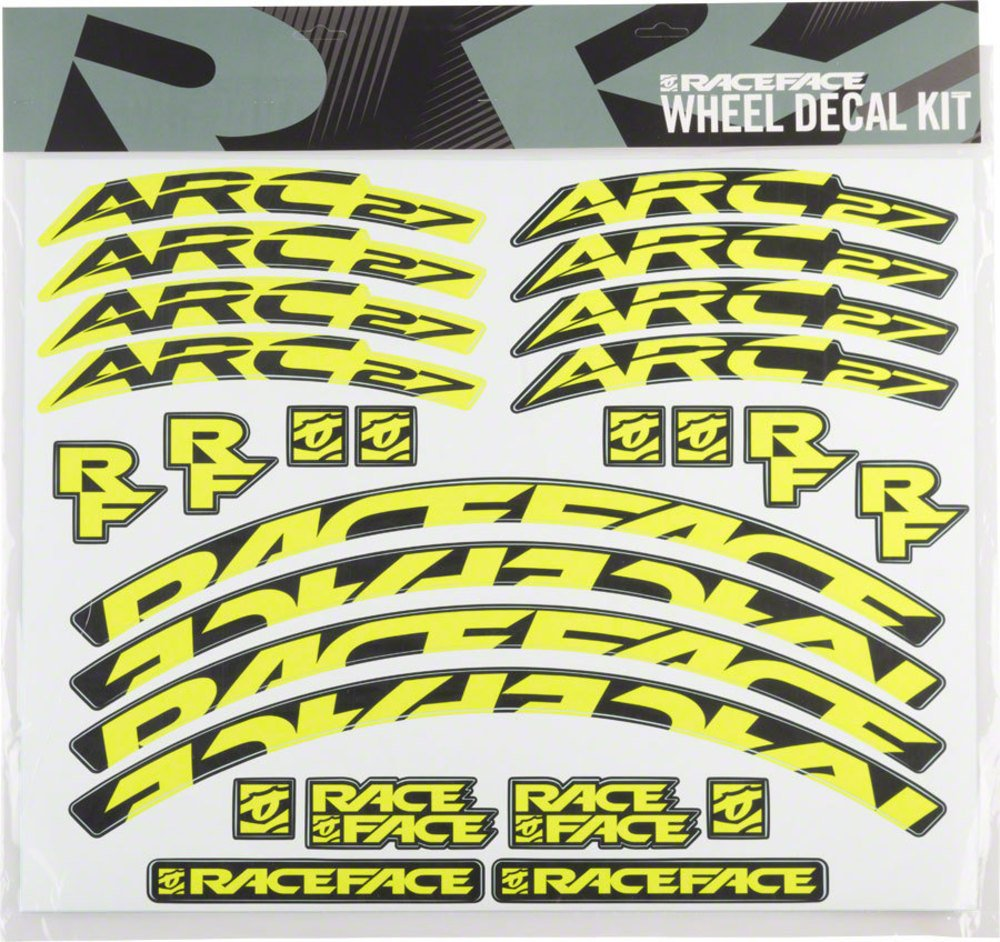 RaceFace Decal Kit for Arc 27 Rims, Yellow
