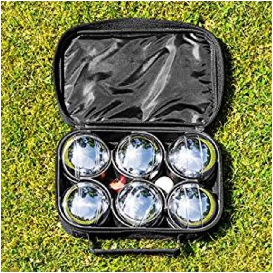 LGFB Metal 73 mm sólido 6 Bola Francesa Juego de Petanca de Acero Inoxidable Deportes al Aire Libre Hierba Tierra Juego de Interior Petanca y Petanca Esfera Duradera de Caza Mayor