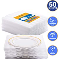 """Fuxury Thicker Cushion Foam Wrap Sheets, 1/8"""" Thick, 12"""" x 12"""" Safely Wrap Material for Moving Storage Packing and Shipping Supplies, 50-Pack"""