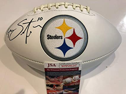 4f1bc5467f1 Image Unavailable. Image not available for. Color: RYAN SWITZER AUTOGRAPHED  SIGNED PITTSBURGH STEELERS LOGO FOOTBALL JSA COA