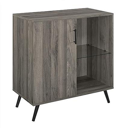 Amazon Com Offex 30 Slate Grey Home Living Room Decorative Wood Tv