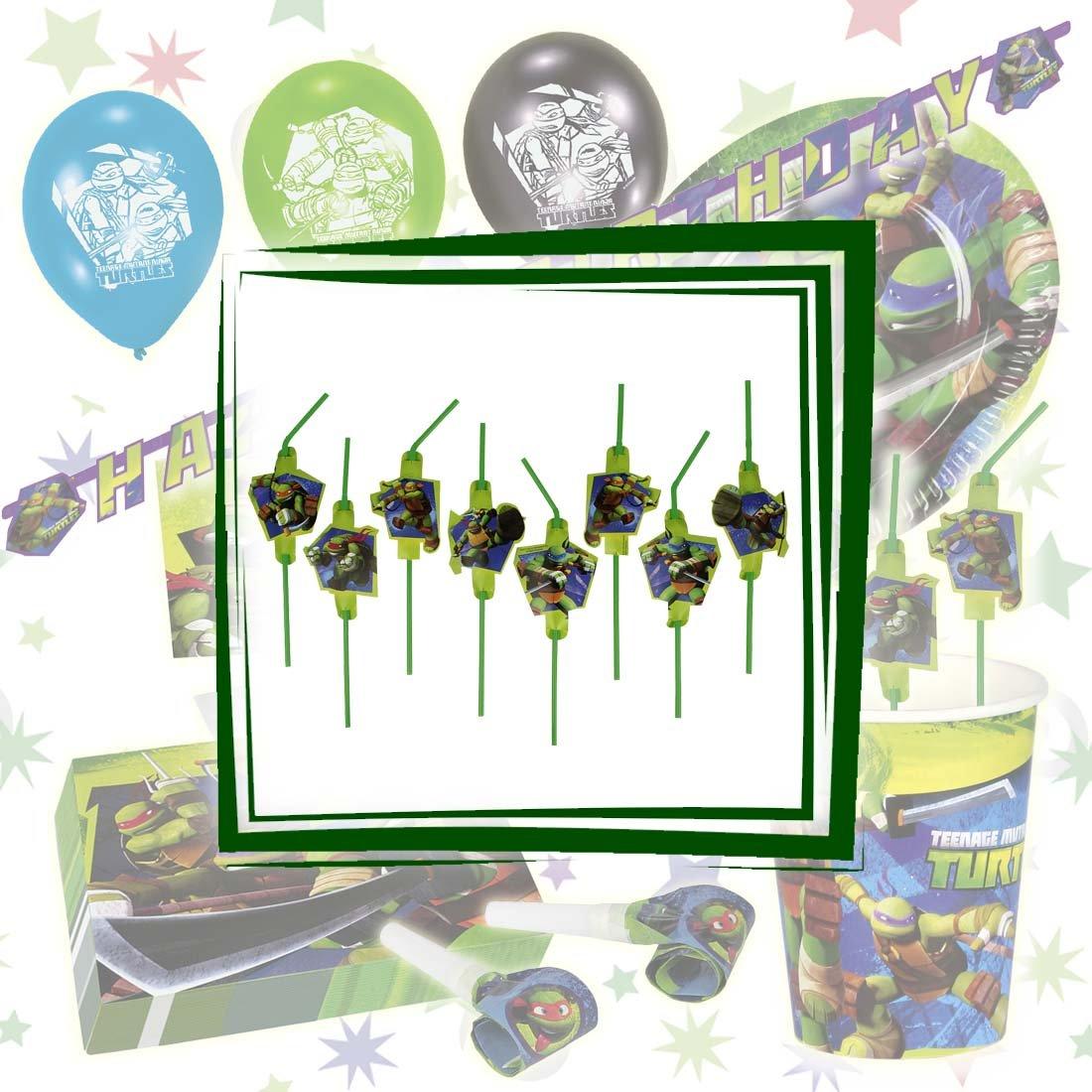 NET TOYS 6 Sacchettini Regalo Tartarughe Ninja Sacchetti con Motivo per Compleanno Bambini Sportine per Festa Bustina Regalo ricordino Adolescenti mutanti Sacco di plastica per Festeggiamenti